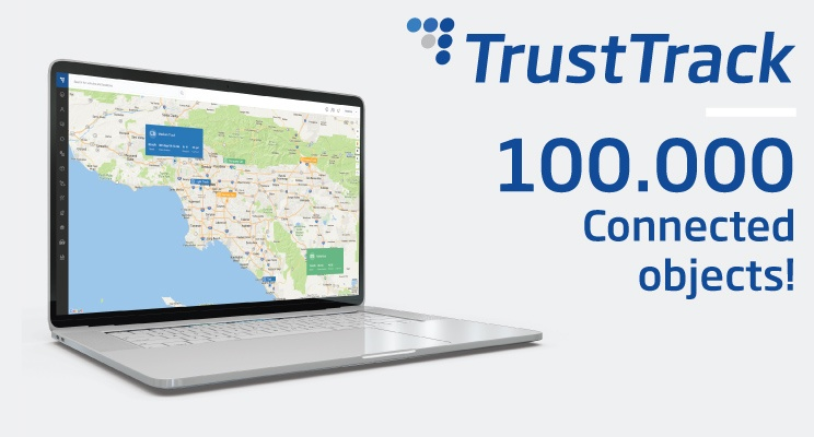 TrustTrack 100k objects connected